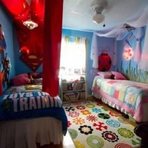 20 superhero bedroom theme ideas for boys and girls interior design center inspiration for Decorating ideas for boy and girl sharing bedroom