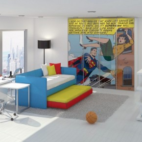 Superman Room 665x498  Poster Print Kids Rooms  Picture  1