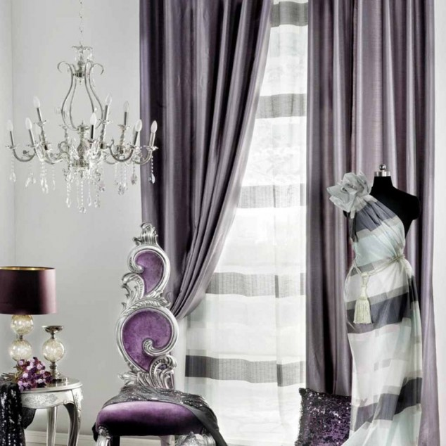 The Silver And Purple Room Interior Design Center Inspiration
