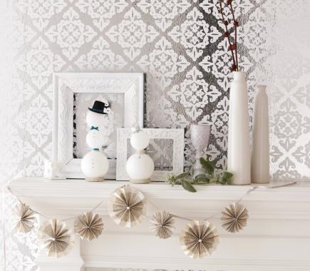 Turn Your Mantel Into A Winter Wonderland Interior - decorating the home winter