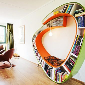 20 Bookshelf Designs for the Home