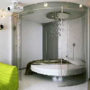 Unique Circular Bedroom  Small Apartment Design in St.Petersburgh Photo  3