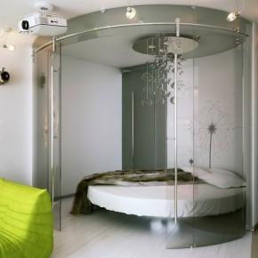 Unique Circular Bedroom  Small Apartment Design in St.Petersburgh Photo  3