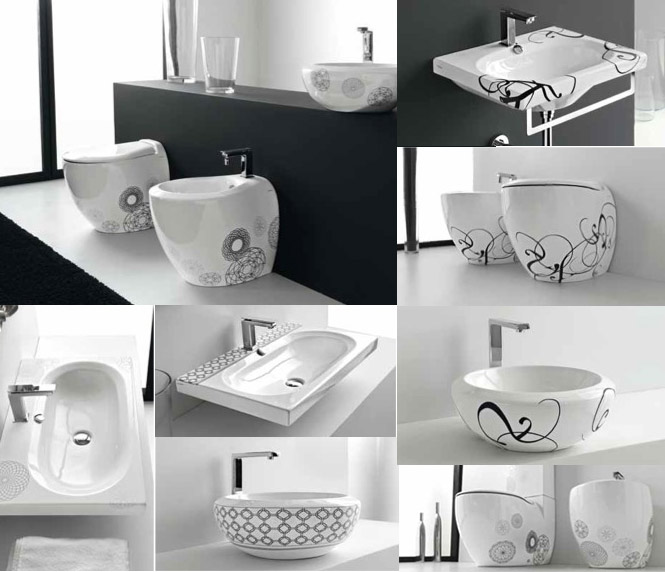 Unique Patterned Bathroom Suite Unique Bathrooms By