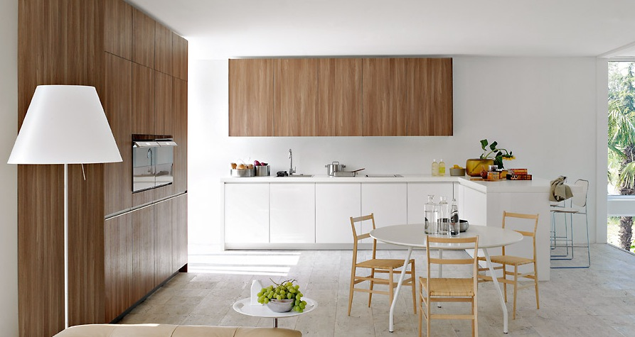 Warm brown with white modern kitchens from elmar cucine wallpaper 17 interior design center - Modern wooden furnishing in a small house to share warm and comfort ...