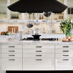 White And Marble Complementing  Modern Kitchens From Elmar Cucine  Wallpaper 21