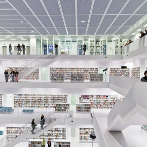 White And The Books  The New Stuttgart City Library  Pict  8