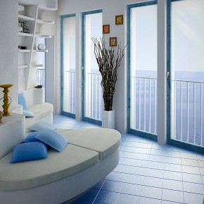 White Blue Seating  Dashing, Artistic Interiors from Pixel3D  Wallpaper 7