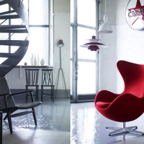 White Interior Red Accent Chair  Splashes of colour in white interiors Photo  10