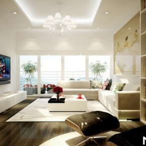 White Living Room 665x452  Dream Home Interiors by Open Design  Wallpaper 10