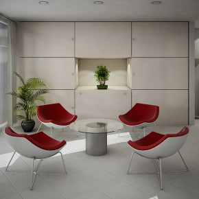 White Red Seating  Dashing, Artistic Interiors from Pixel3D Photo  9
