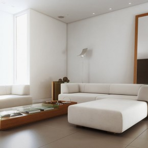White Simple Living Room  Living Rooms Round Up  Pict  3