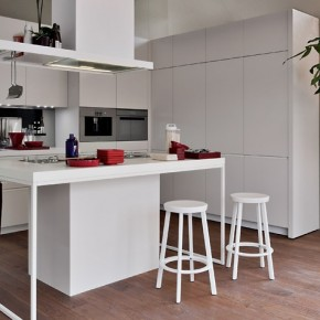 White Smaller Kitchen  Modern Kitchens From Elmar Cucine  Pict  13