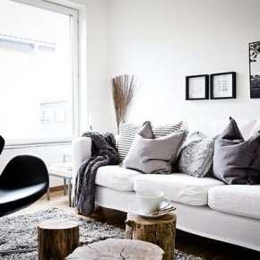 Using shades of gray with winter interior design decorilla.com