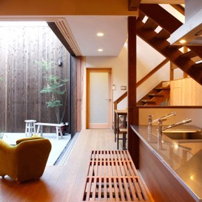 Zen Kitchen And Courtyard  Modern Japanese Kitchens  Image  2