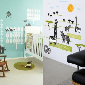 Zoo Animal Wall Stickers  Kids Wall Stickers  Wallpaper 1