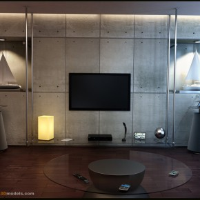 10 Living By Premium3Dmodelsdotcom  10 Rooms That Are Designed Around Televisions  Pict  4