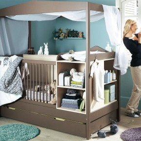 11 Fantastic Baby Nursery Design Ideas by Vertbaudet Brown Blue Wall