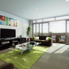 2 Interior Living Area By Vivifyer  10 Rooms That Are Designed Around Televisions Photo  2