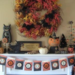 50 Awesome Halloween Decorating Ideas Fireplace Cute Pumpkins