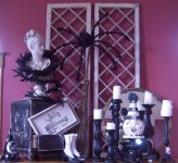50 Awesome Halloween Decorating Ideas Fireplace Purple Wall Black Spider