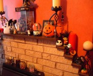 50 Awesome Halloween Decorating Ideas Fresh Orange Fireplace Full Pumpkins