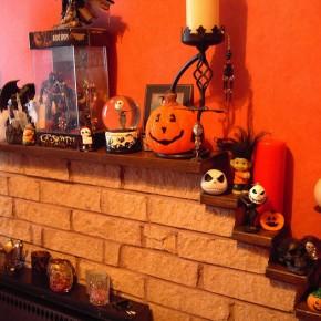 50 Awesome Halloween Decorating Ideas Fresh Orange Fireplace Full Pumpkins
