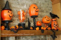 50 Awesome Halloween Decorating Ideas Stone Fireplace Cool Pumpkins