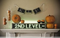 50 Awesome Halloween Decorating Ideas Fireplace Small Pumpkins