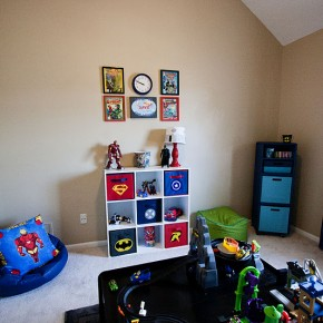 Boys Bright Superhero Room Countingwillows