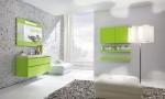 Amazing Bathroom Ideas Green Cabinet Bright Lighting