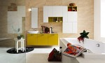 Amazing Bathroom Ideas Yellow Cabinet And White Bathup