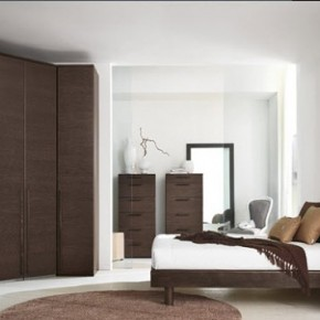 Bright Beautiful Modern Style Bedroom Designs White Wall Brown Furniture