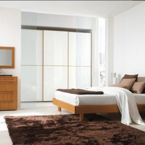 Bright Beautiful Modern Style Bedroom Designs White Wall Wood Furniture