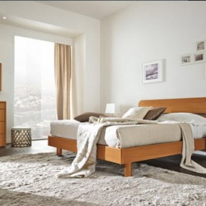 Bright Beautiful Modern Style Bedroom Designs White Wall and Thick Carpet