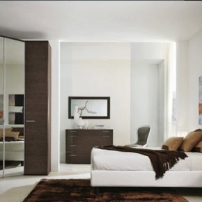 Bright Beautiful Modern Style Bedroom Designs White and Brown Wall