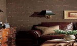 Design Interior French Country Brown Wall And Sofa Combination