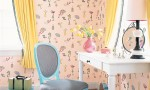 Design Interior French Country Bright Pink Wall Grey Chair