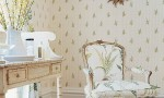 Design Interior French Country White Wall Retro Floral Chair