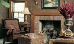 Design Interior French Country Brown Fireplace Warm Lounge