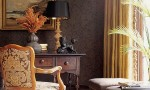 Design Interior French Country Brown Retro Wall And Chair