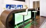 Modern Functional Aquarium Kitchen Green Light