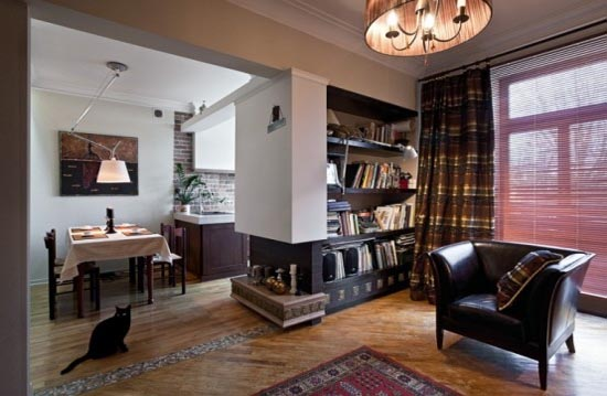 Design With Retro Touches for Small Apartment