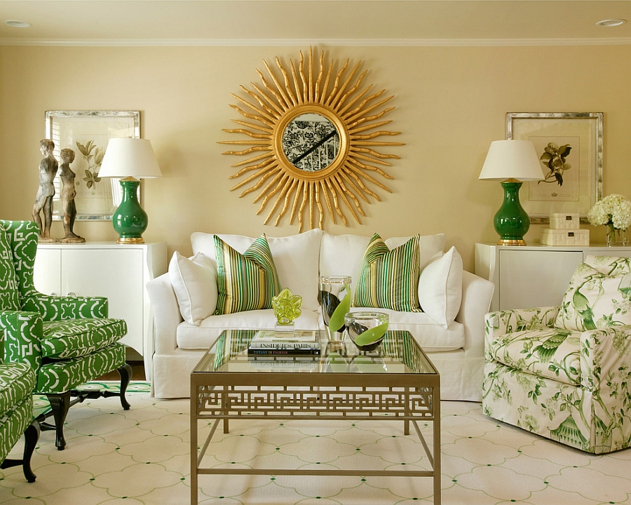 smart use of symmetry to create a snazzy living room in green rh getitcut com