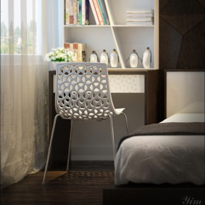 A Crochet Chair1  Warm and Cozy Rooms Rendered By Yim Lee  Wallpaper 10