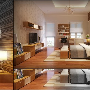 A Warm Bedroom1  Warm and Cozy Rooms Rendered By Yim Lee  Image  8