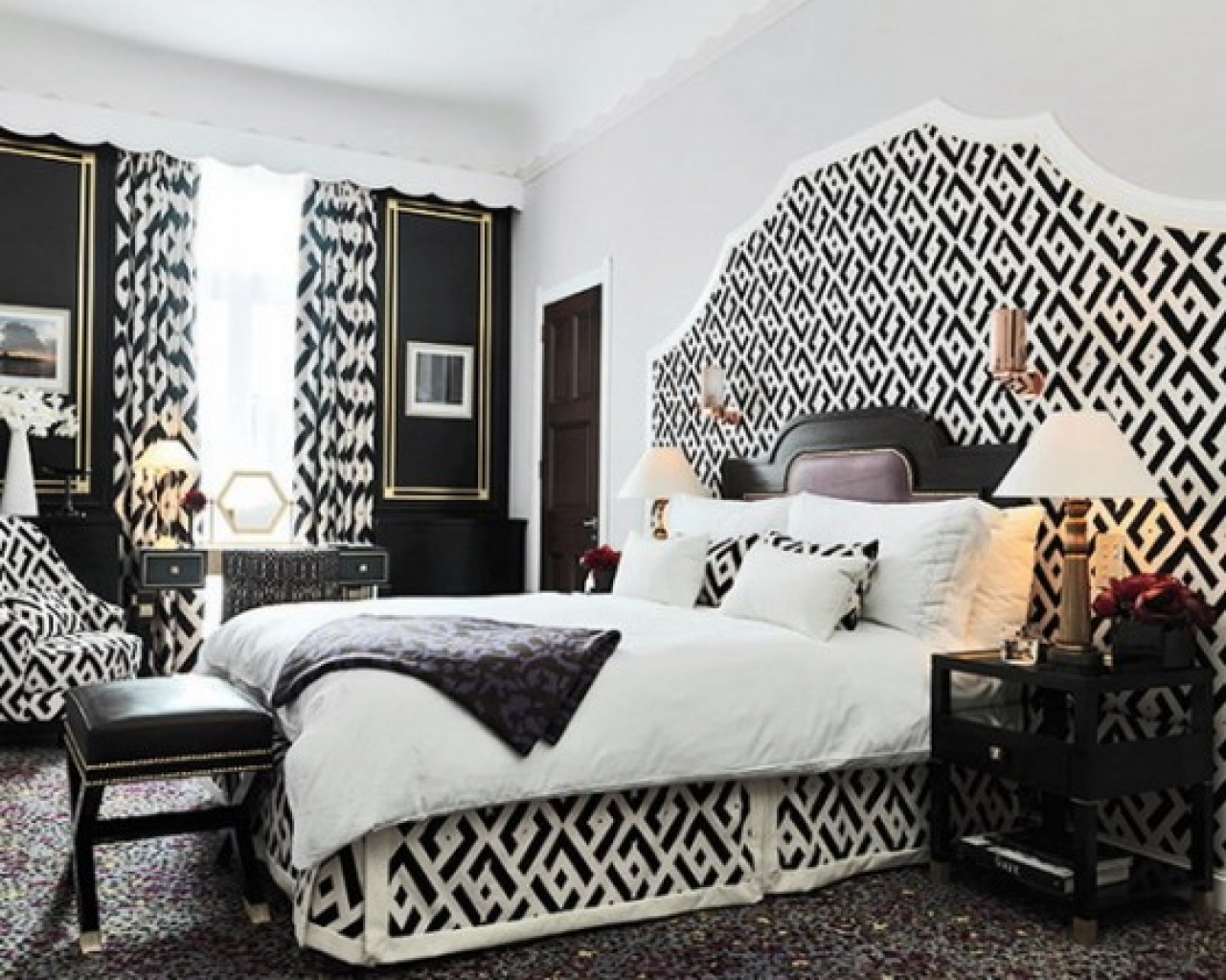 Bedroom Remarkable Black And White Paint Schemes Wall Wall