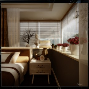 Bedside Table1  Warm and Cozy Rooms Rendered By Yim Lee  Wallpaper 7