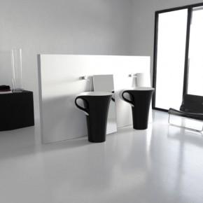 Black Bathroom Basins  Unique Bathrooms by ArtCeram Photo  2