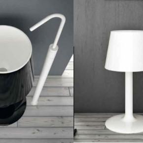 Black White Lamp Basin  Unique Bathrooms by ArtCeram  Wallpaper 10